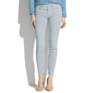MADEWELL Skinny Zip Jeans in Indigo Railroad